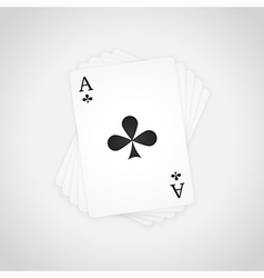 Ace of Clubs vector image