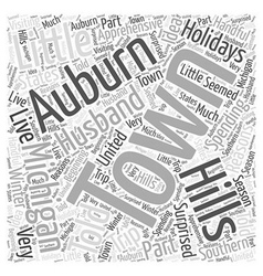 Auburn hills michigan Word Cloud Concept vector