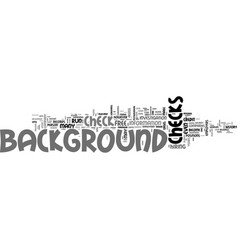 Background checks a detailed guide text word vector