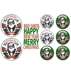 BAD SANTA banners vector image
