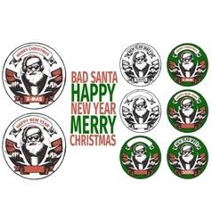 Bad santa banners vector