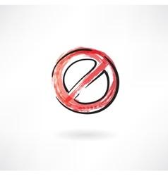 Ban symbol vector image