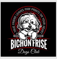 Bichon frise - for t-shirt vector