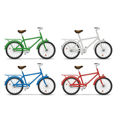 bicycles on white background vector image