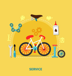 bike service concept vector image