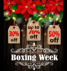 Boxing week tag vector
