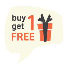 buy one get one for free label vector image