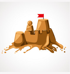 cartoon sand castle vector image