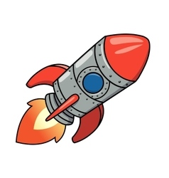 Cartoon spaceship 2 vector