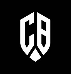 cb logo monogram with emblem shield style design vector image