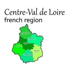 Centre-Val de Loire french region map vector