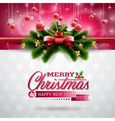 Christmas design with typographic elements vector