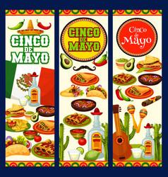 cinco de mayo mexican traditional fiesta food vector image