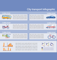 city private and public transport infographic set vector image