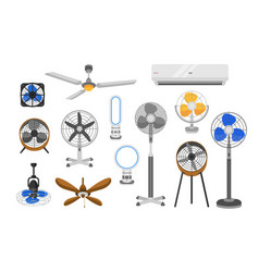collection of electric fans of various types vector image