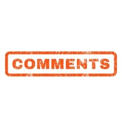 Comments Rubber Stamp vector image
