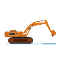 Construction machinery industrial excavator vector