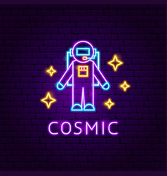 Cosmic neon label vector