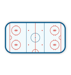 Detailed of a icehockey rink field court eps10 vector