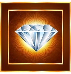 Diamond realistic vector image