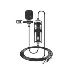 Dictaphone microphone for reporters vector