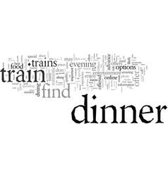 Dinner trains vector