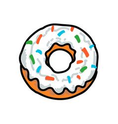 donut in style a traditional tattoo vector image