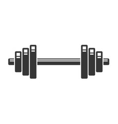 Dumbbell icon on white background vector