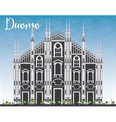 Duomo Milan Italy vector