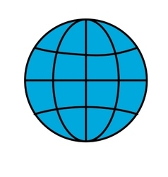 Earth globe diagram icon image vector