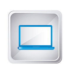 emblem blue laptop icon vector image