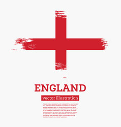 england flag with brush strokes vector image