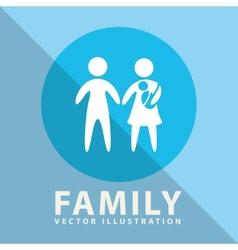 family label design vector image