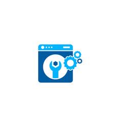 fix laundry logo icon design vector image