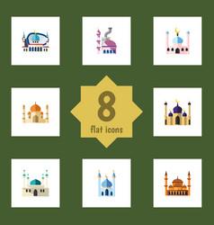 flat icon minaret set of muslim religion vector image