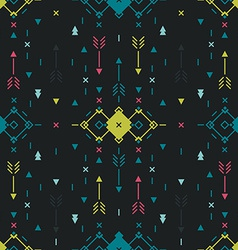 Geometric background Tribal seamless pattern vector image