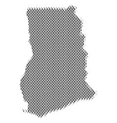 Ghana map population demographics vector