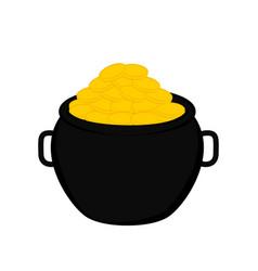 golden coins pot vector image