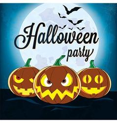Halloween pumpkin head vector image vector image