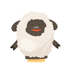 Hand or finger puppets play doll sheep cartoon vector