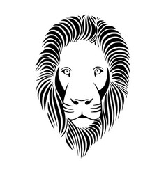 Head of lion vector