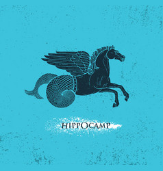 horse with pegasus wings and mermaid tail vector image