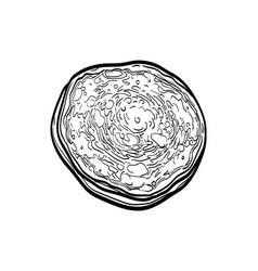 Ink sketch pancake vector