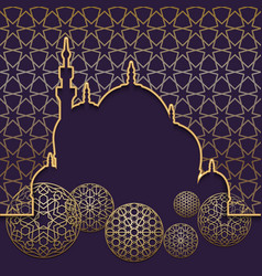 Islamic holiday concept template background or vector