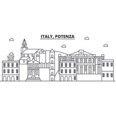 Italy potenza architecture line skyline vector