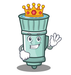 King flashlight cartoon character style vector