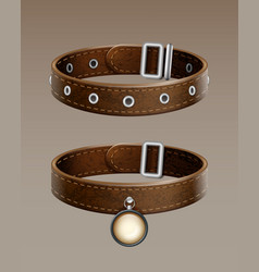 Leather collar vector