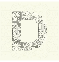 Letter D Golden Monogram Design element vector
