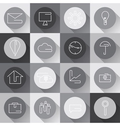 line craft web icons set for business in flat vector image