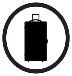 Luggage icon black white vector image